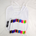 Kids Gift Set 24 Colors Double Tips Permanent Fabric Markers for Baby Bibs