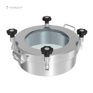 `DONJOY Stainless steel pressure round manway with sight glass for tank