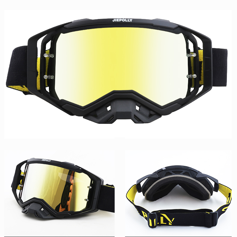 Gafas Motocross Goggles Glasses MX Off-Road ATV Dirt Bike Motorcycle Helmets Goggles DH Glasses Replaceable Lens