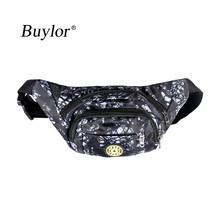 Поясная Сумка Buylor, поясная сумка в виде банана, модная нейлоновая мужская повседневная поясная сумка, женская спортивная сумка для телефона...(Китай)
