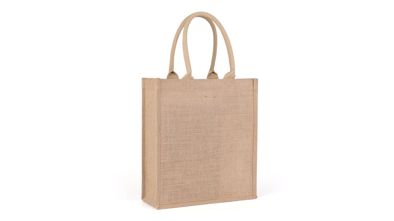 カスタム格安価格ナチュラルジュートトートバッグ卸売ハンドルショッピングバッグ