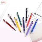 Graphic Customization Stylus Pen Hot Selling 2 in 1 Promotional Stylus Touch Screen Ball Pen Metal Stylus Ballpoint Pen with Custom Logo