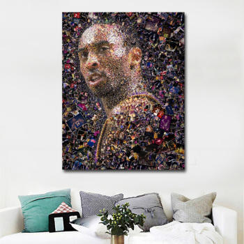 Kobe Bryant Basketball Star Portrait Painting Printed Print Posters modern paintings pop art on canvas for wall