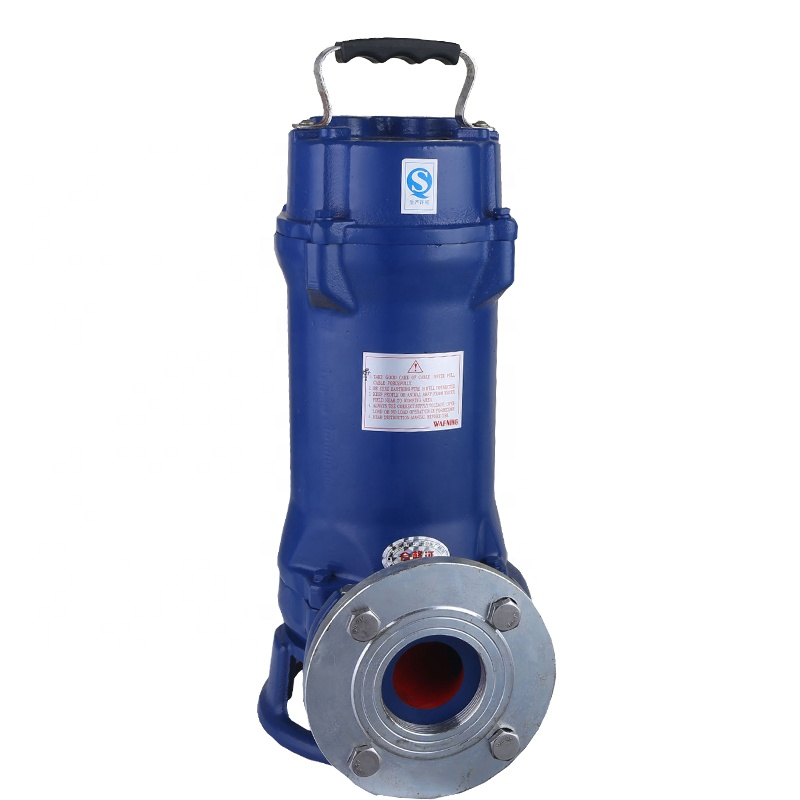 380/220V submersible sewage water cutting pump to pull <strong>animal</strong> excrement from the septic tank