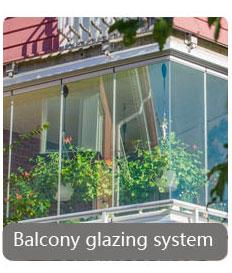 Balcone Vetri Sistema Porta del Balcone di Vetro Pieghevole Professionale Su Misura di Disegno Esterno Della Porta Frameless