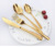 Wholesale  gold fork and spoon cutlery  gift set for wedding