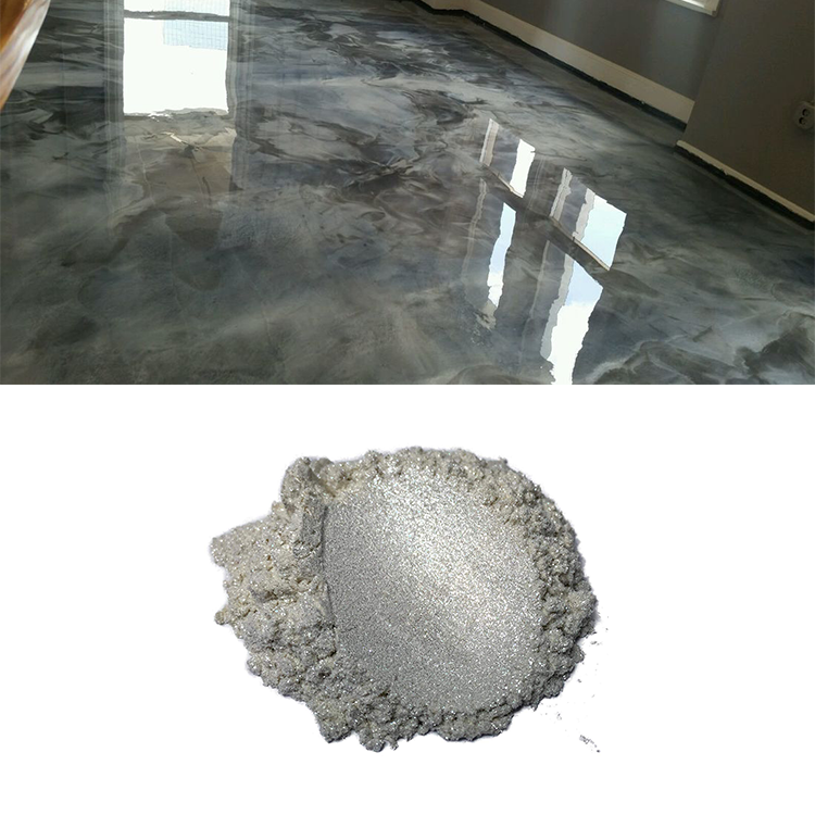 Kolortek pearlescent pigment resin metallic epoxy floor
