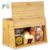 Bamboo Bread Box with Convenient Lid