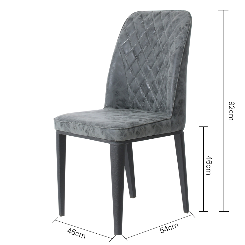 New product modern dining room furniture Luxury high back mesh design PU leather smooth surface dining chair