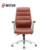 Office chair brown leather conference room chairs with casters