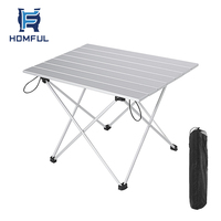 HOMFUL portable aluminium picnic table folding table for outdoor hiking camping