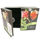 Two Door luxury black high quality paper cosmetic gift box with insert made in China