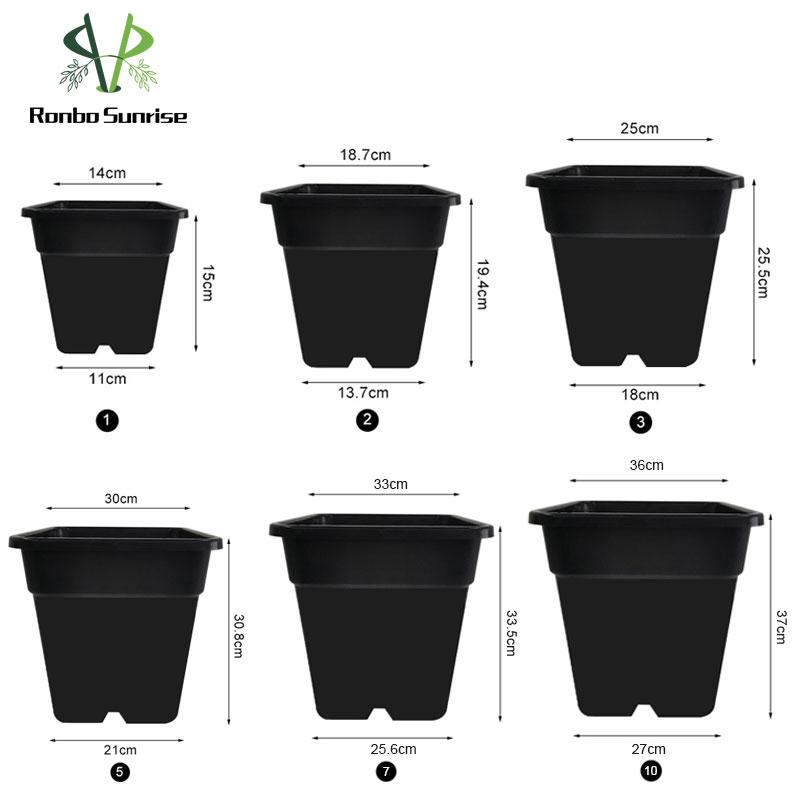 Wholesale 1 2 3 5 Gallon Container Durable Agricultural Square Plastic Plant Pot