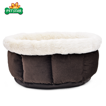 Good Quality Sell Well Wholesale Fur Plush Dog Bed Cat Donut Dog Bed