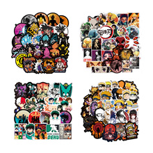 100 Pcs/Tas Hot Sale Non-Ulangi Tahan Air <span class=keywords><strong>Stiker</strong></span> Pack Populer Sticker Anime Naruto One Piece Dragon Ball <span class=keywords><strong>Stiker</strong></span>