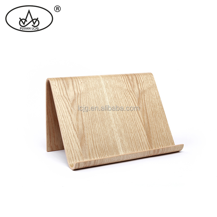2020 New Style Cheap Natural Materials Wooden Holder Custom Logo Bent willow wooden Tablet Stand For IPad