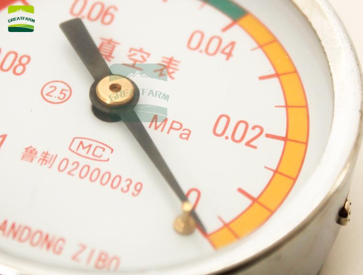 Vacuum meter for milking machine Pressure gauge Manometer