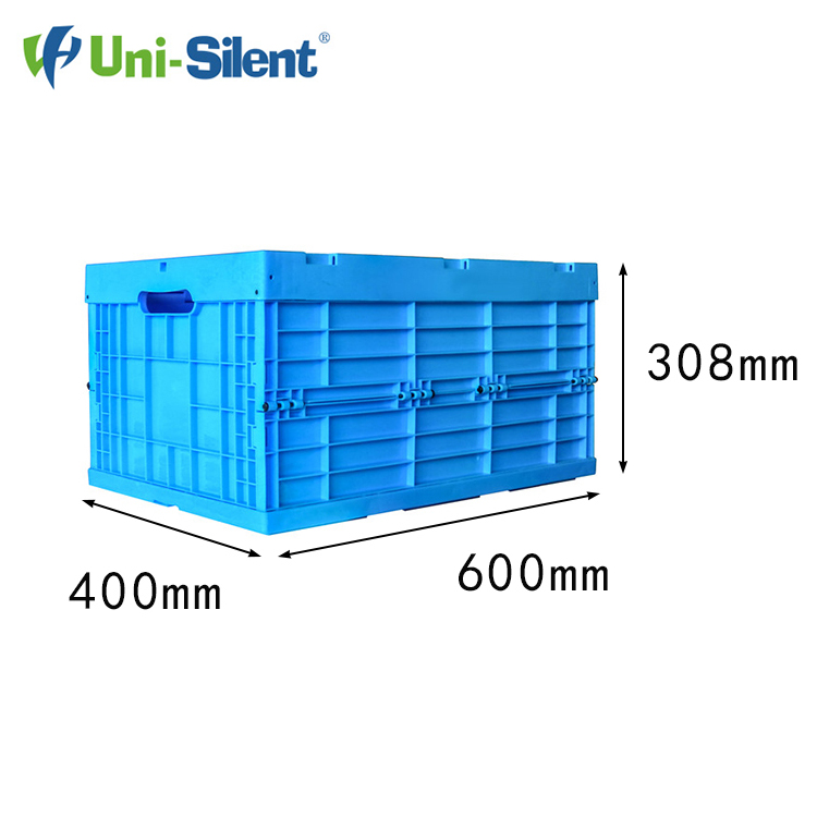 Uni-Silent Recyclable Stackable Folding Plastic Turnover Crates LH-LX604031W