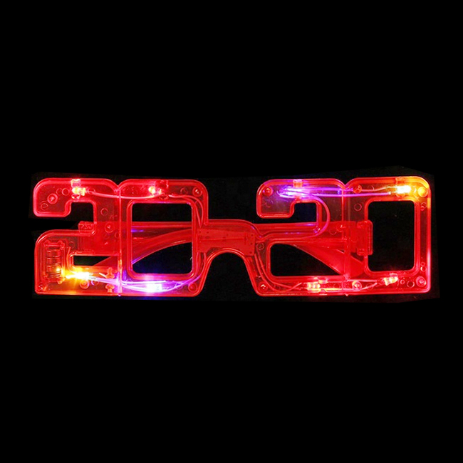 New LED lights party glasses 2020 new year glasses