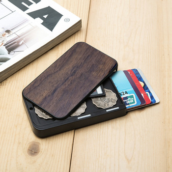 2020 New Arrival Good Price Real Leather Credit Card Holder Black For 15 Cards