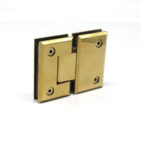 Antique Brass Gold Plating Bronze Color Bevel Circinal 180 Degree Stainless Steel Bathroom Clamp Glass Shower Door Hinges