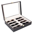 Custom 8 Piece Glasses Box Sunglasses Storage Case with Glass Window