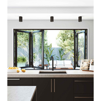 Australia Standard AS2047 Approved Aluminium Double Glazed Bi Fold Windows