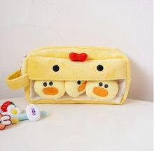 Плюшевый чехол-карандаш, вместительный, милый, креативный, многофункциональный пенал с животными, сумка для хранения, Канцтовары для девоче...(Китай)