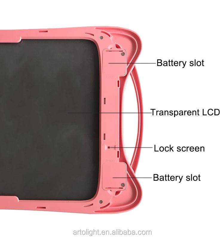 12 polegadas LCD transparente pad imitar escrita lousa digital desenho gráfico tablet