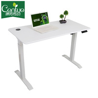 Economic Single Motor Uplift Height Adjustable Study Table Sit Stand Electric Lifting Office Desk White