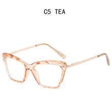 Очки с прозрачными стеклами оправы для очков для женщин прозрачные кошачий глаз Сексуальная оправа оптические очки по рецепту(Китай)