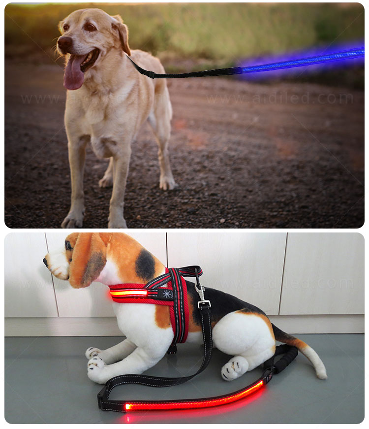 product-AIDI-Hot sale flashing style LED Mesh Dog Leash-img-3