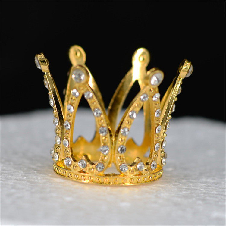 Gold And Sliver Kids Mini Crystal Alloy <strong>Crown</strong> Birthday Party Rhinestone Crystal Tiara For Baby Hair Cake Decorations