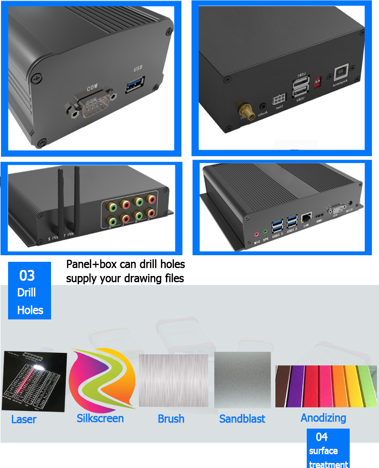 extrusion aluminum profile professional power amplifiers distribution box
