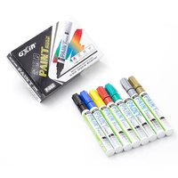 custom LOGO variety of metal colors available valve structure tire paint marker pen