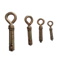 4pcs Heavy Duty Shield Anchor Fastener With O Type Hook
