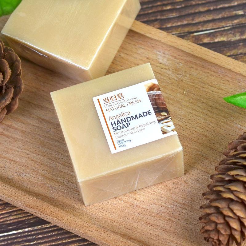 Private Label Natural Herbal Repair Nourishing Moisturizing Hydrating Essential Oil Bath Handmade Soap Organic Angelica Soap