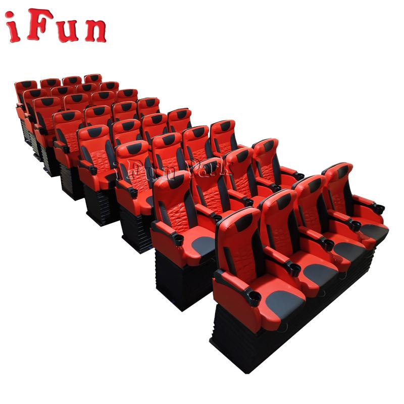 Ifun parkı lüks 4 koltuk içecek yuvası 5D 7D 9D 12D sinema mükemmel kalite silindir elektrik sistemi
