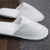 Factory direct sale white cotton velvet hotels slippers closed toe cotton disposable slippers