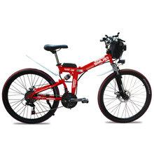 Электрический велосипед YTL, 21 скорость, 48 В, 10 Ач батарея с дисплеем на руле, 26-дюймовое встроенное колесо(Китай)
