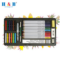 artist drawing water soluble watercolor pastel pencil set