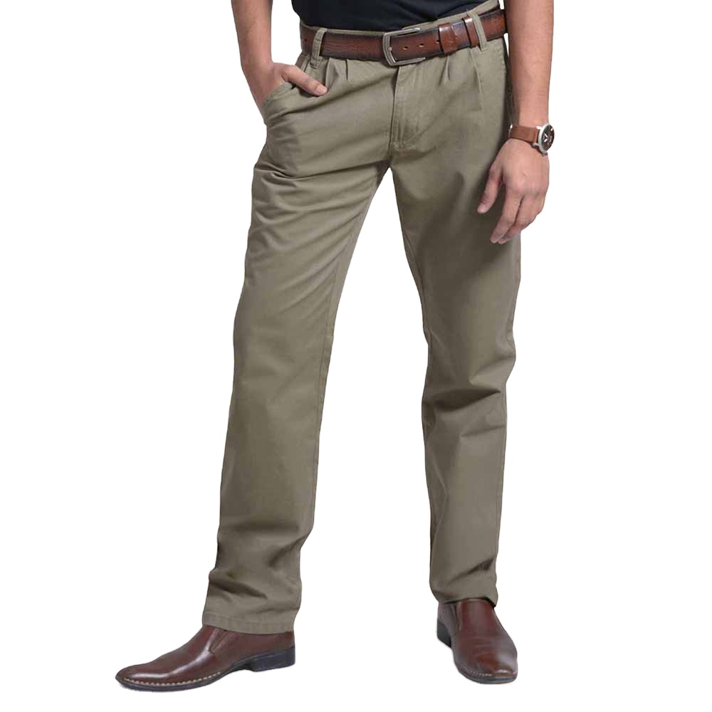 Gli uomini Davanti A Pieghe Chino Pants Regular Fit