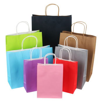 Kraft Paper Party Favor Bags Goodie Bags Treat Bags for Kids with Handle for Birthday