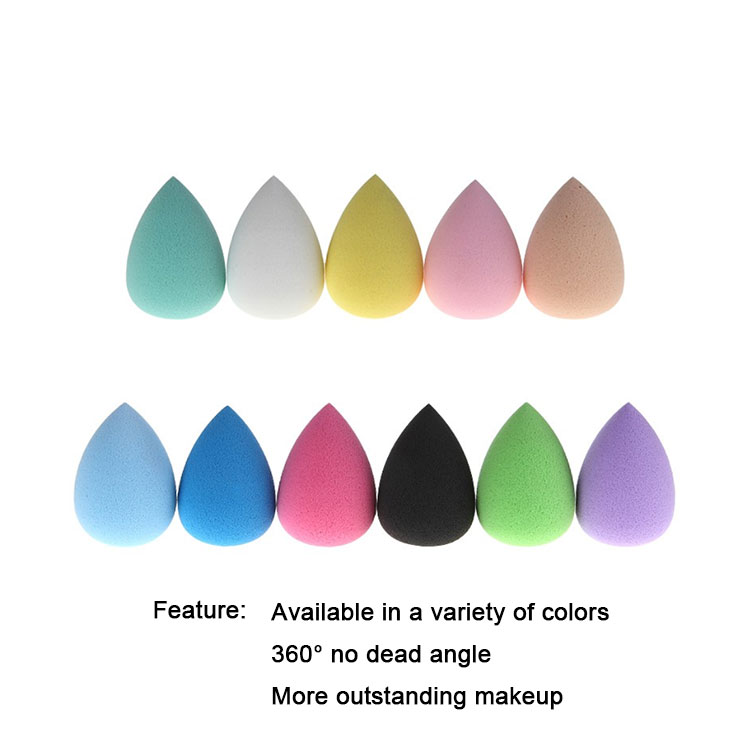 Yaeshii Wholesale Waterdrop Super Soft Non Latex Microfiber Beauty Makeup Sponge