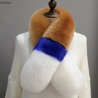 Stitching Colors Many Color Available Fake Fur Collar Faux Fox Fur Scarf