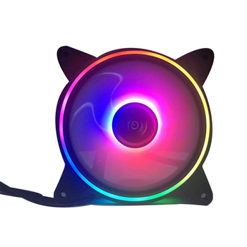 2019 High Performance Cool PC Case Cooling Fans 16Led +8 Led DC 12V RGB Fans Computer Case Fans With Good Price