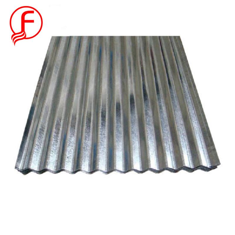 FACO tôle d'acier! 0.18x1000x2000mm galvanisé ondulé feuille de toiture pour Le Marché Africain