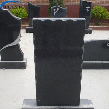 Customized Natural Stone Black Granite with best quality Monument TombStone