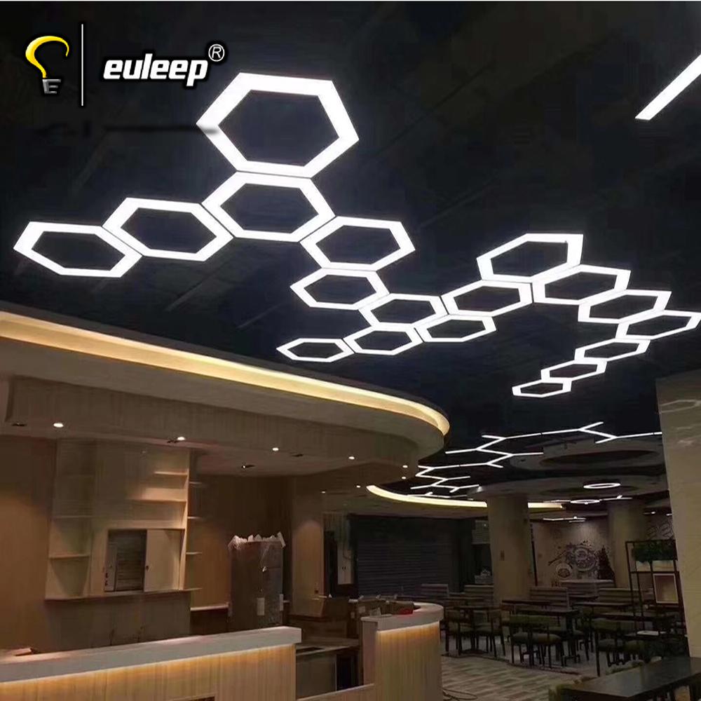 six shaped  led linear light pendant Hexagon Chandelier modern chandeliers pendant lights