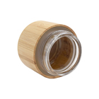 5/10/20/30/50/100/200/250/300/500g Cosmetic packing cream full bamboo jar with glass inner